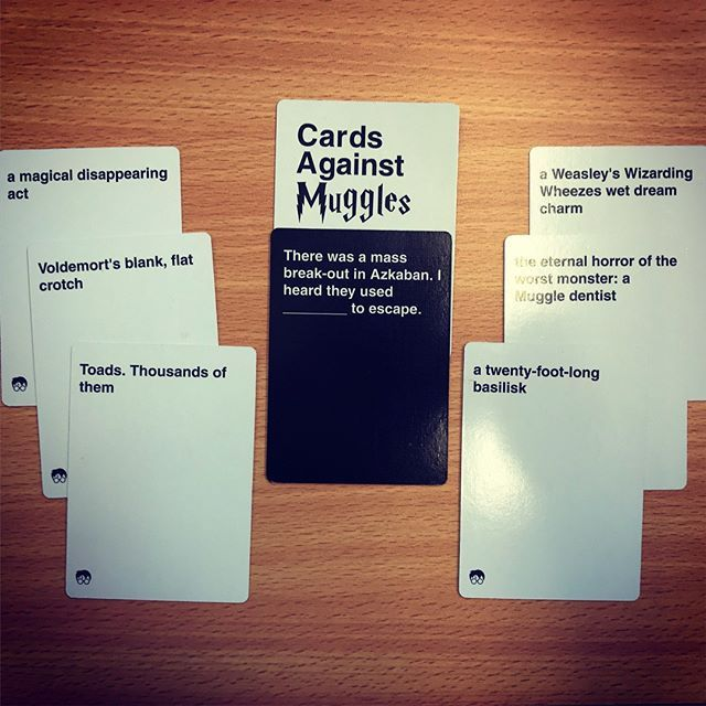 Cards Against Muggles Cards Example