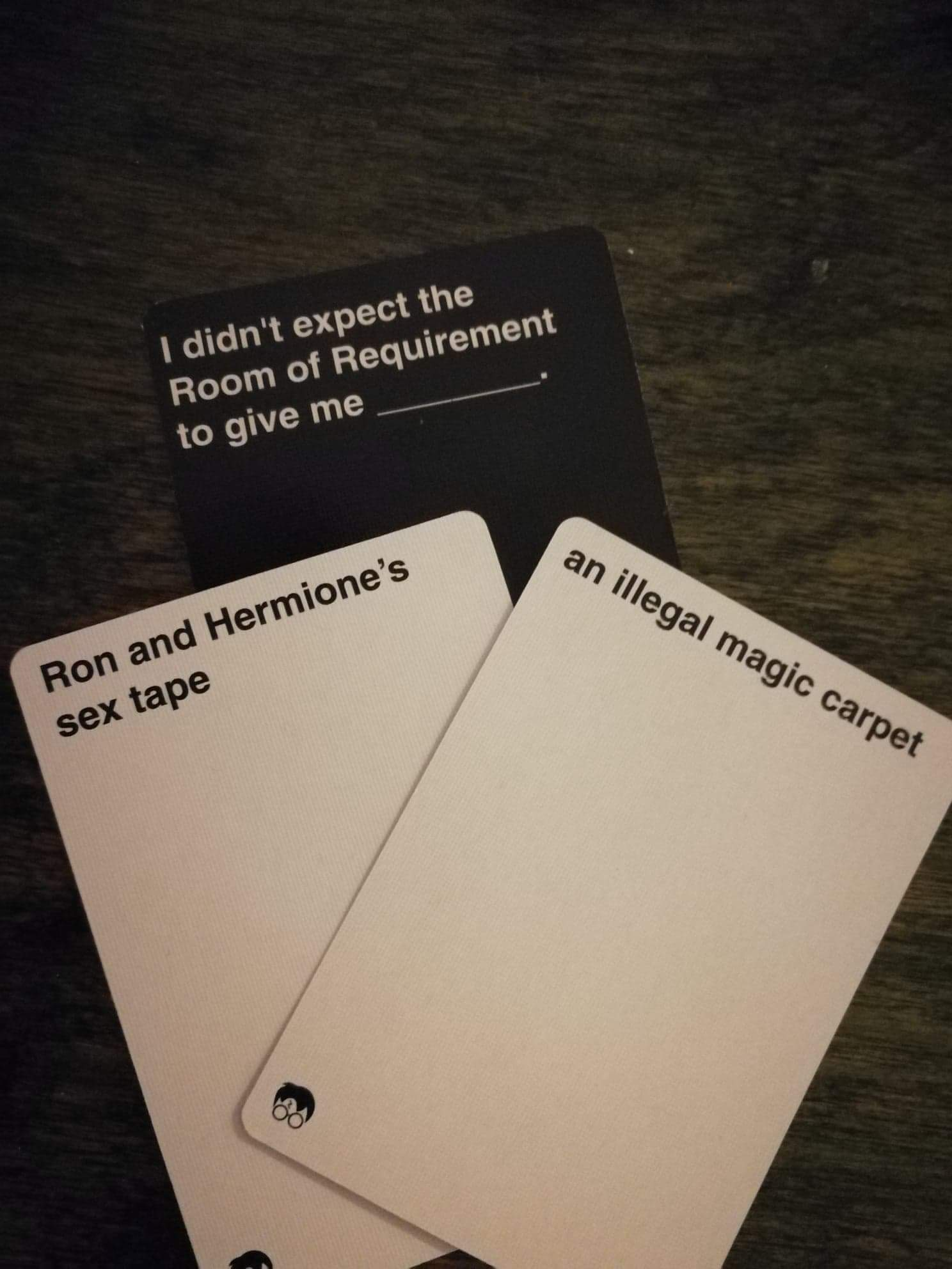 Cards Against Muggles Cards