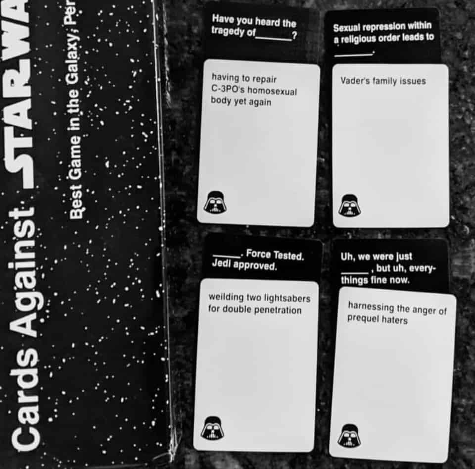 Cards Against Star Wars - Cards Example
