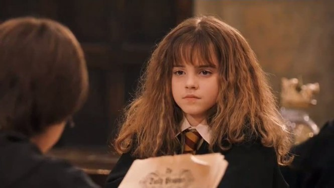 Muggle-Born Hermione Granger as an 11 years old  at Hogwarts
