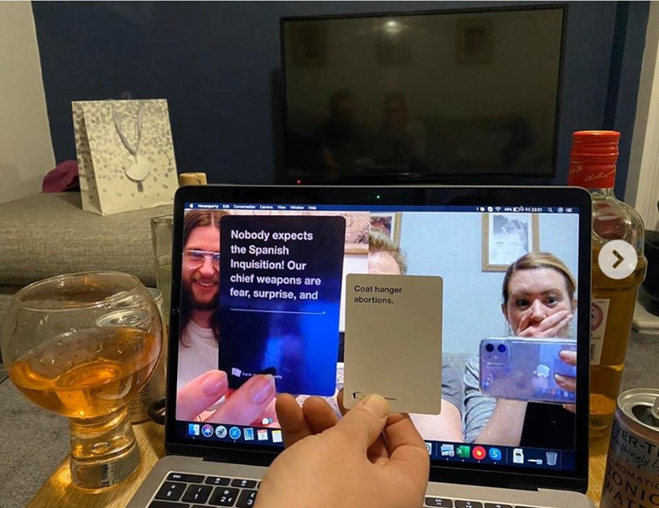 Playing cards against humanity online