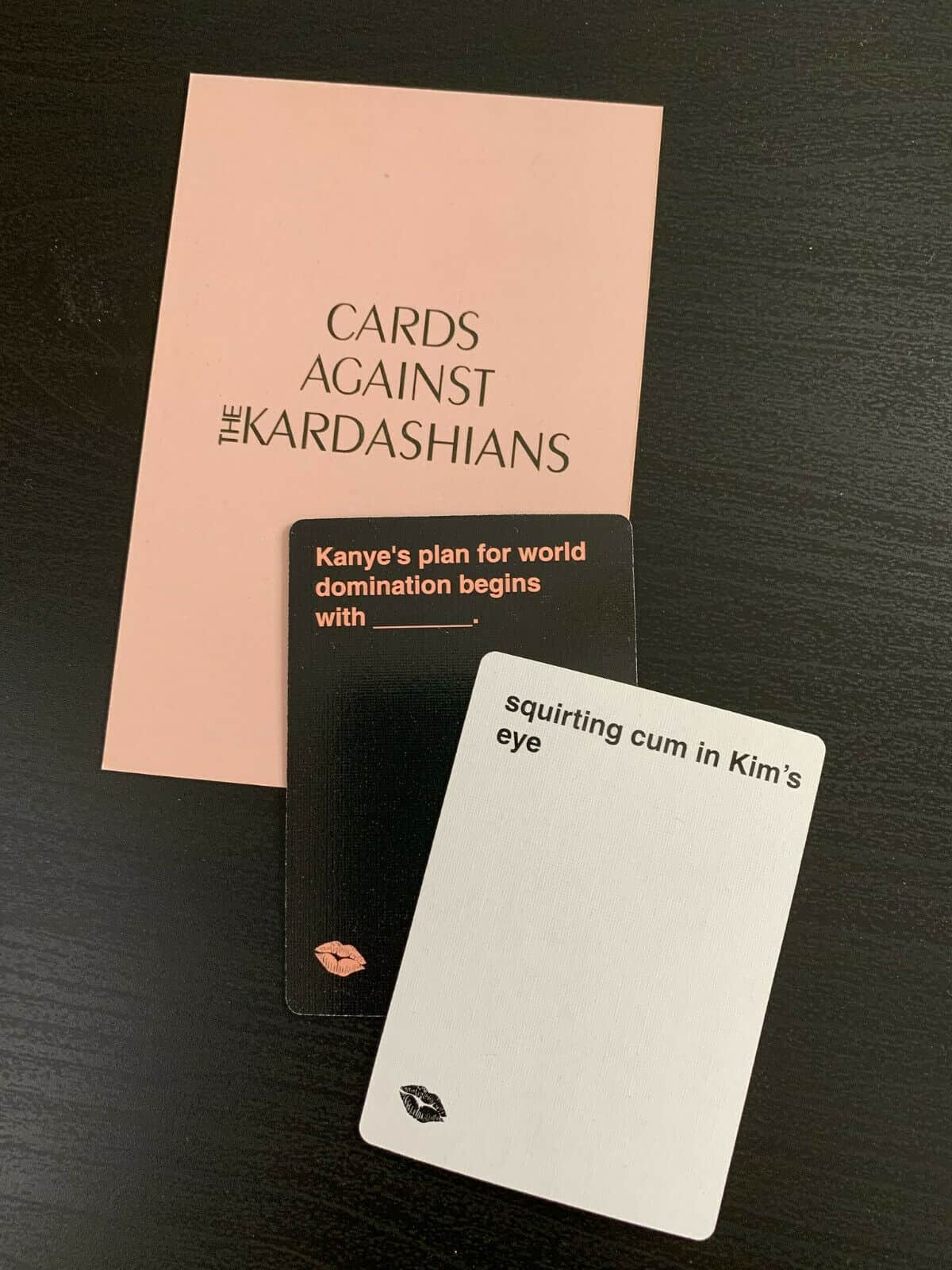 Cards Against Kardashians game play example