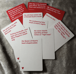 Cards Against Disney Cards Example