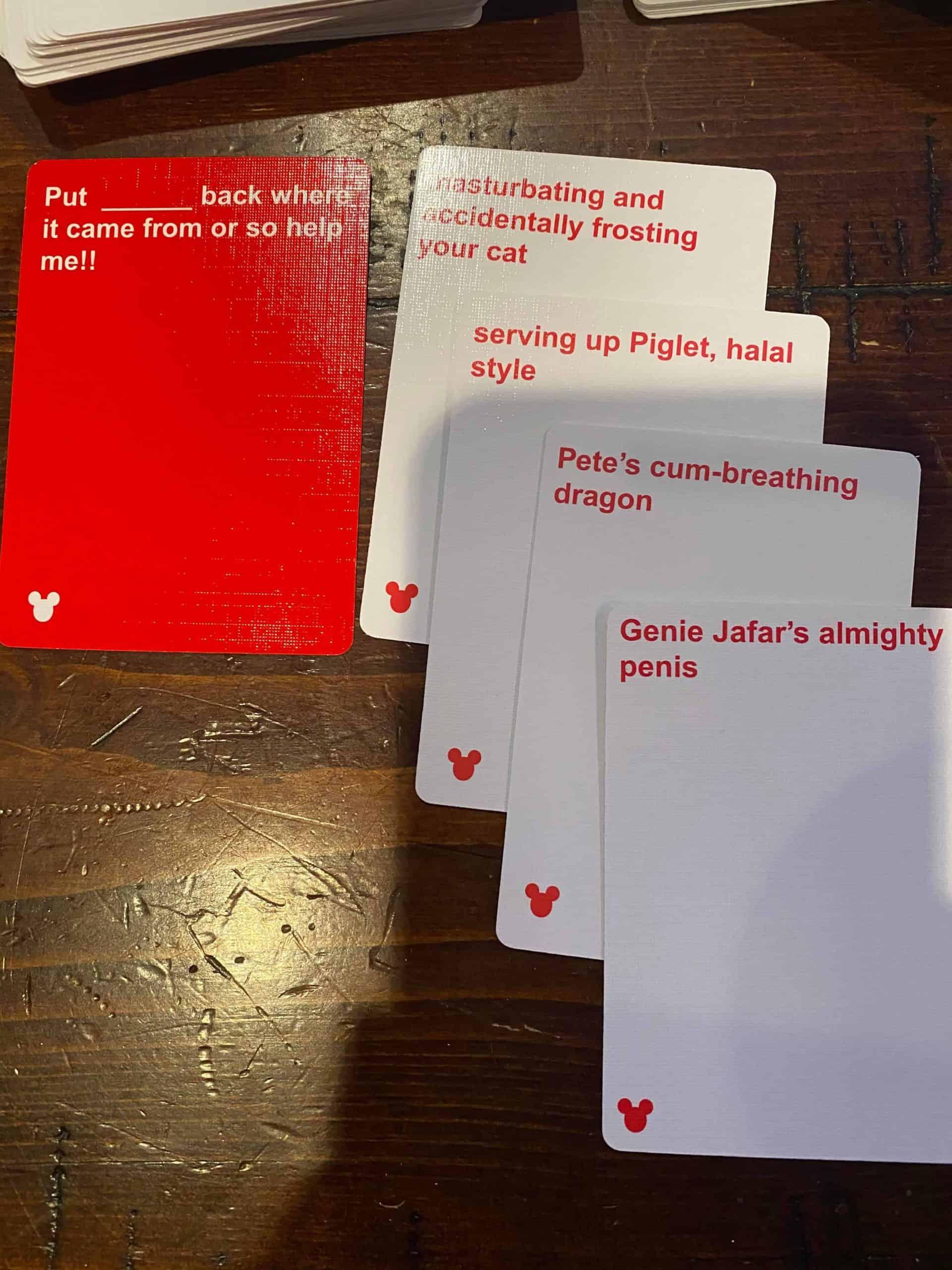 Cards Against Disney Cards 3