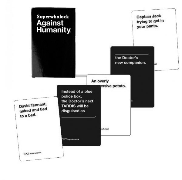 SuperWholock Against Humanity Cards Examples