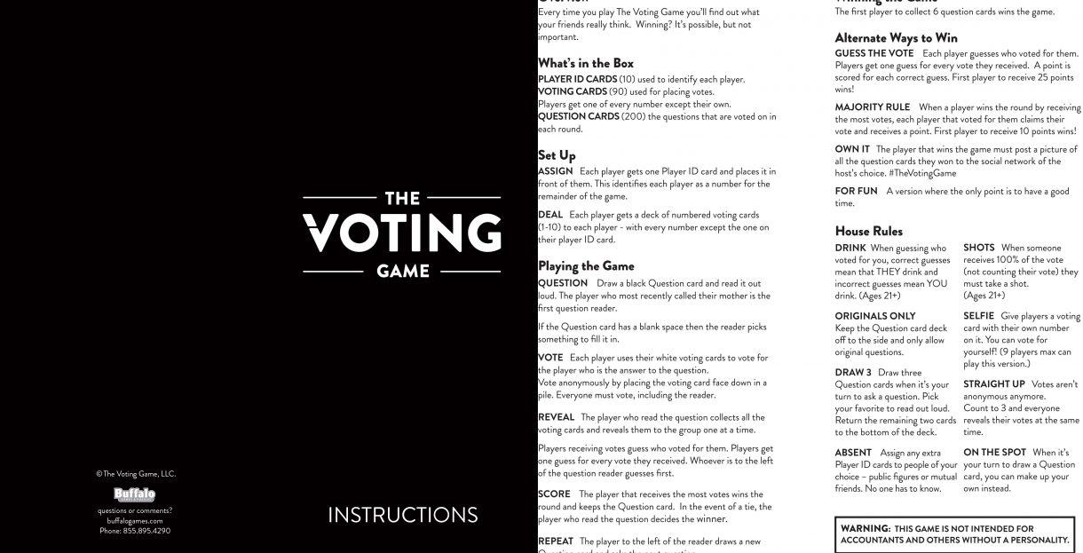 The Voting Game Instructions