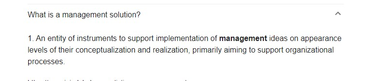 Management-Solution-Meaning