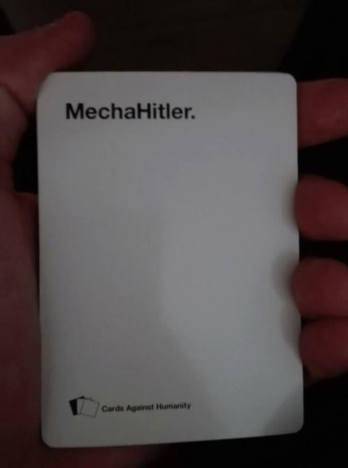 Mechahitler Cards Against Humanity