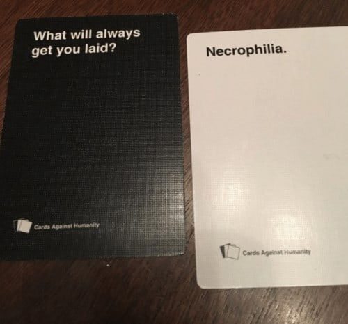 Necrophilia Cards Againt Humanity