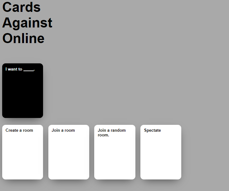 cards against online