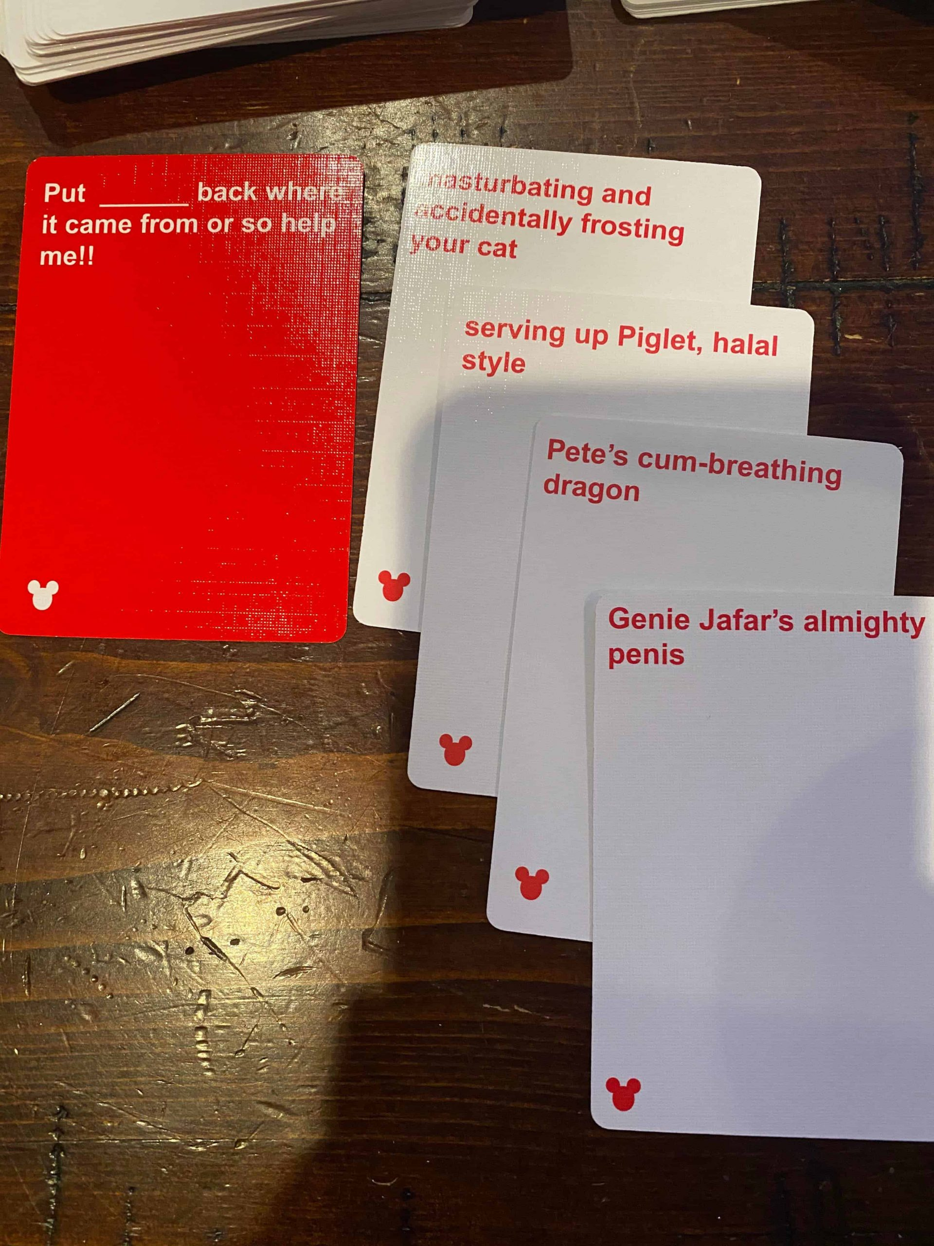 Cards Against Disney - Combination 4
