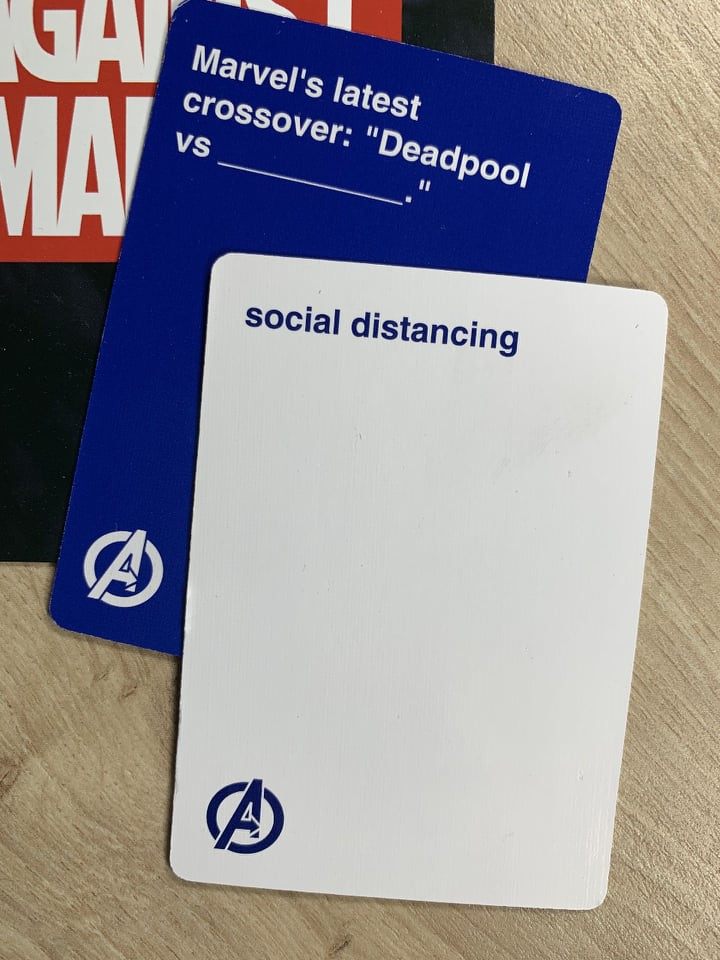 Cards Against Marvel - Card Example