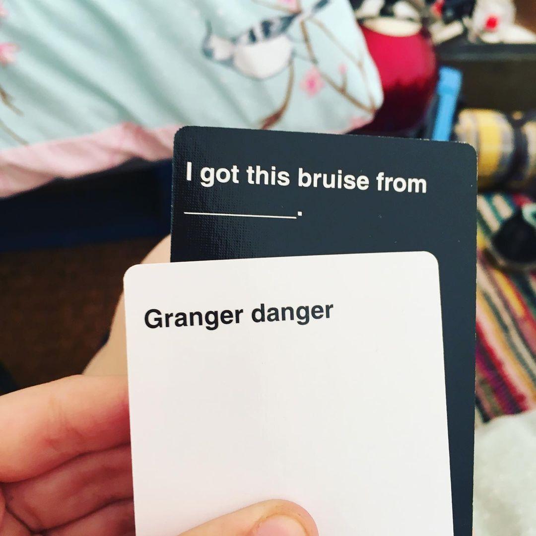 I Got This Bruise From Granger Danger- Cards Against Muggles
