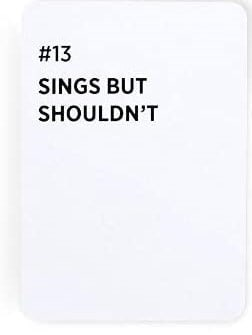 Sings But Shouldn't - Card Example