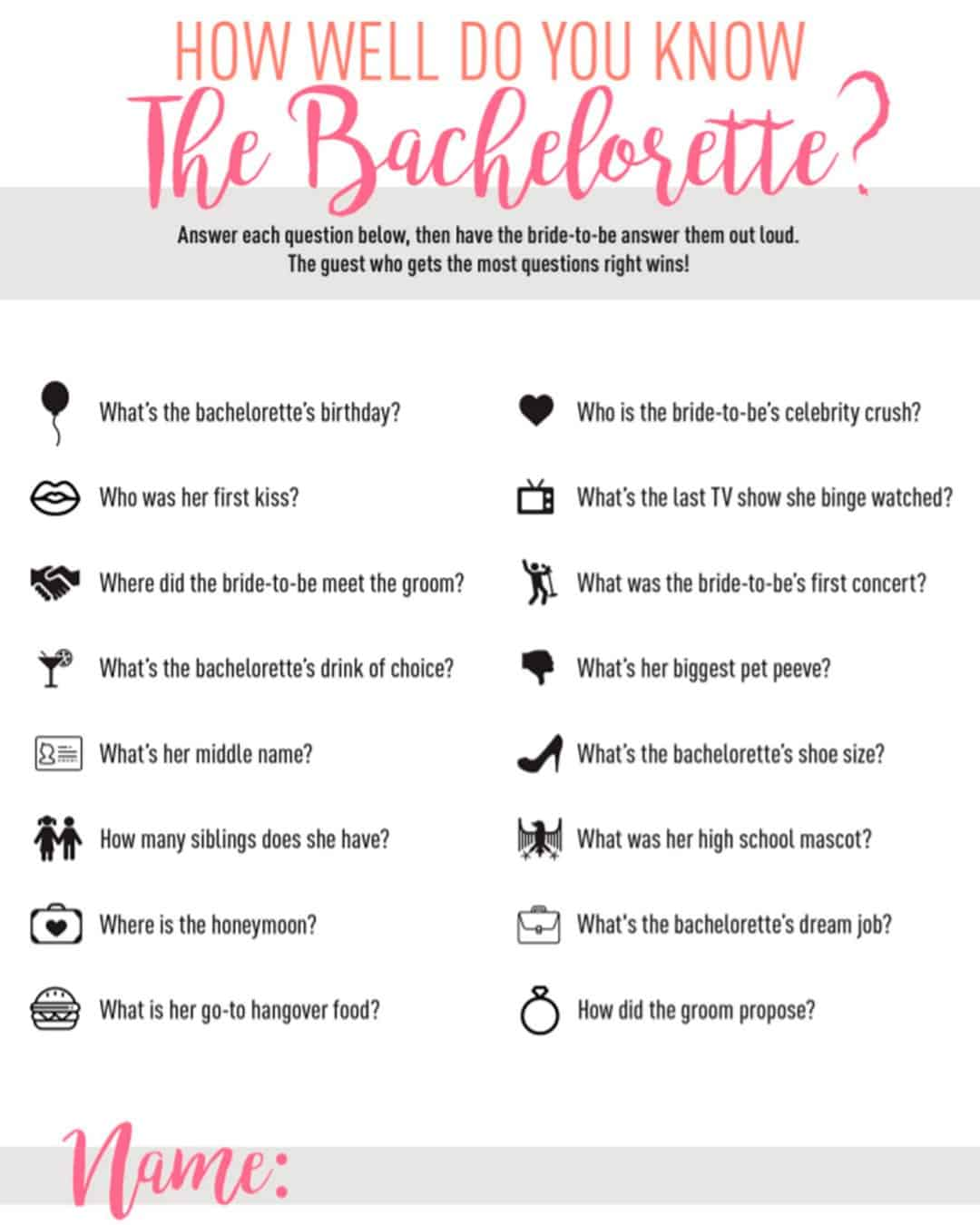 How Well Do You Know The Bachelorette- Diy Section