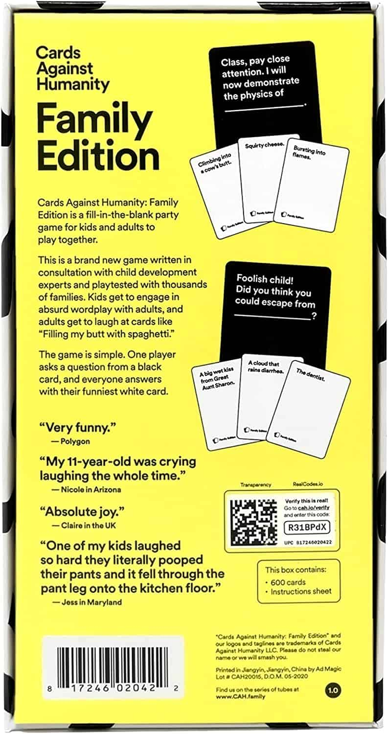Cards Against Humanity Back