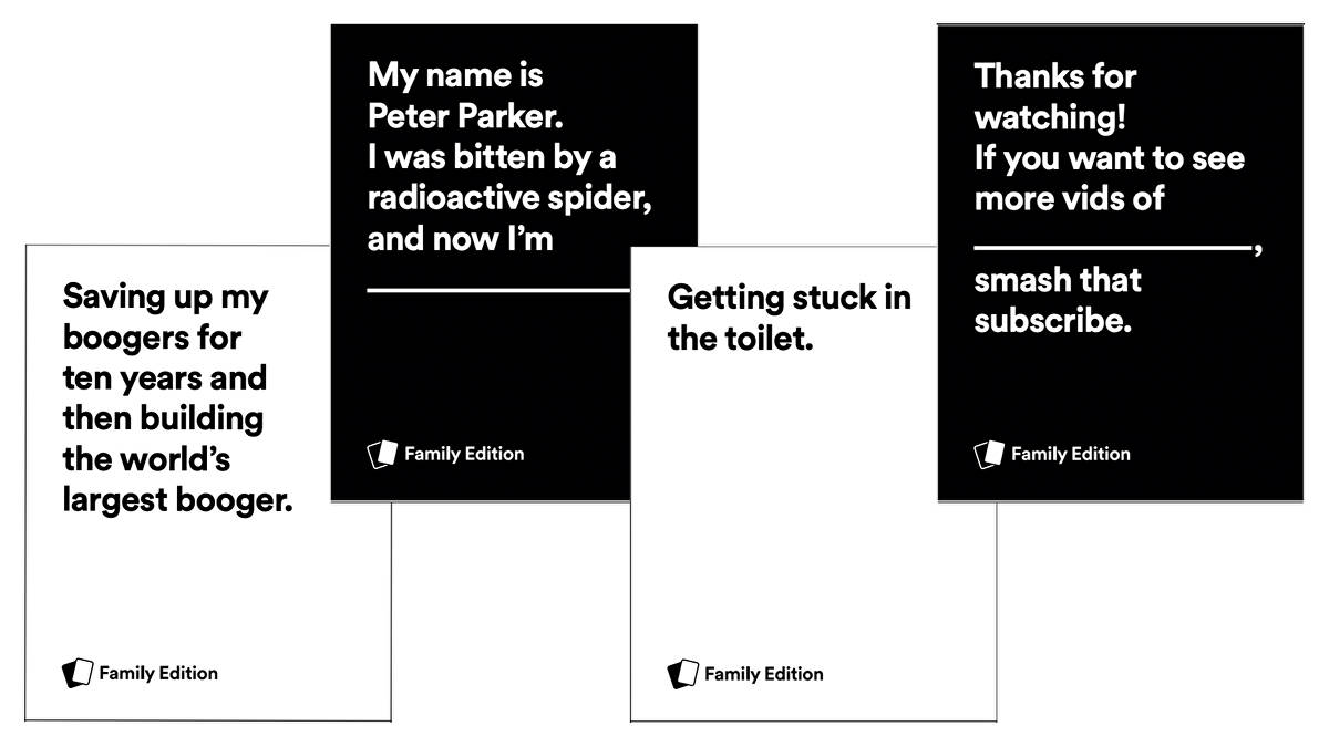 Family Edition- Cards Combination